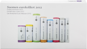 Finnish euro coin rolls 2012.jpg