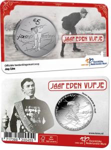 Neterland 5 euro 2019 Jaap Eden coincard.jpg