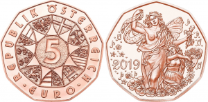 Austrua 2019 5 euro lebsndfreude CU.jpg