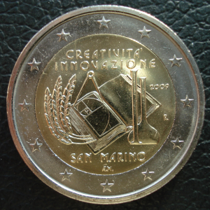 Сан-Марино 2009 2 евро А.JPG