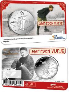 Neterland 5 euro 2019 Jaap Eden coincard BU.jpg