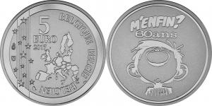 Belgium 5 euro 2017 Gaston.jpg