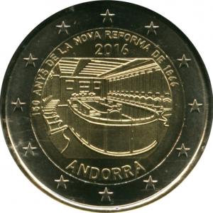 Монета Euro Андорра п 2016 150-летие новой реформы 1866 г..jpg