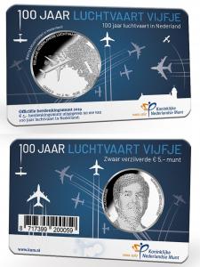 5 euro Netherland 2019 Aviation coincard.jpg