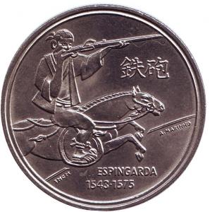Португалия 200 эскудо 1993 год. Эспингарда..jpg
