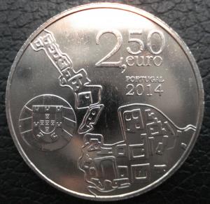 Португалия 2014 2,5 евро Университет Коимбры А.JPG