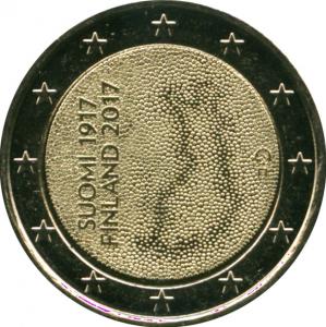 Монета Euro Финляндия п 2017 100-летие независимости Финляндии.jpg