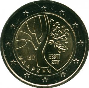Монета Euro Эстония п 2017 Дорога Эстонии к независимости.jpg