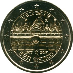 Монета Euro Италия п 2017 400 лет собору Святого Марка в Венеции.jpg