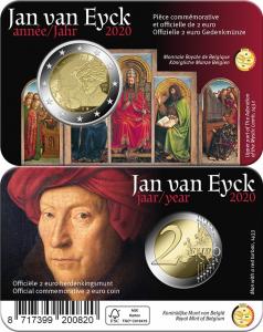 2 euro Belgium 2020 coincard Van Eyck FR-DU-vert.jpg