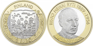 Finland 2017 5 euro Risto Ryti.jpg