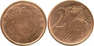 Belgium 2 Eurocent 2000 Error.jpg